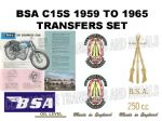 BSA C15 Scrambles Star 1959 to 1965 Transfer Decal Set